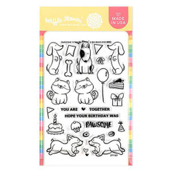 Pawsome, Waffle Flower Clear Stamps - 653341212832
