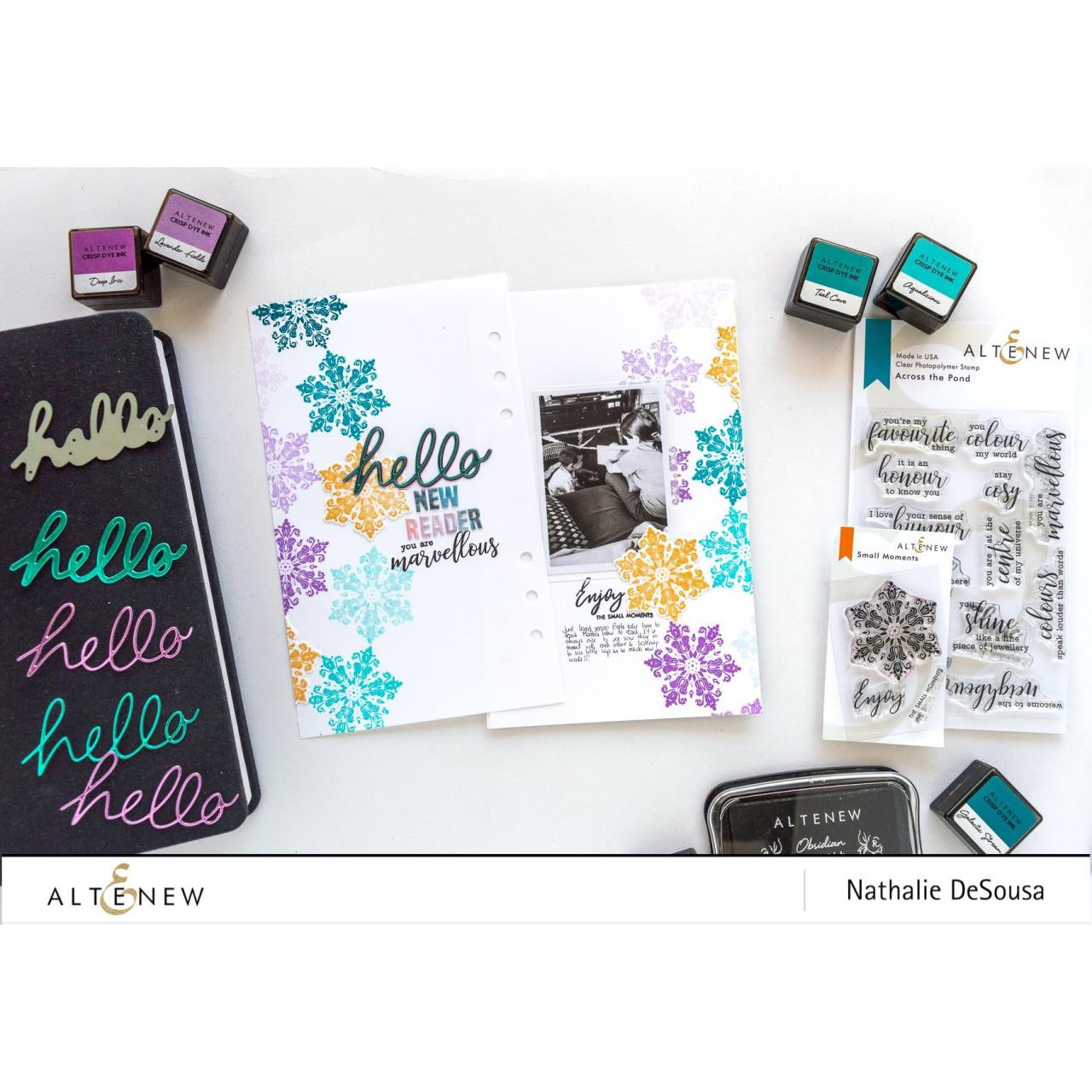 Across the Pond, Altenew Clear Stamps - 737787256213
