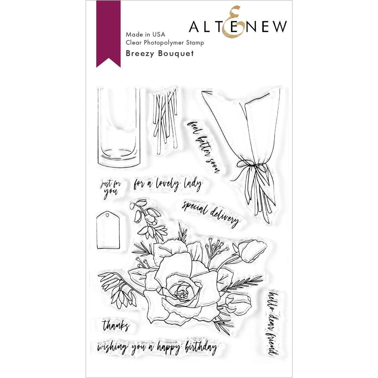 Breezy Bouquet, Altenew Clear Stamps - 737787256220