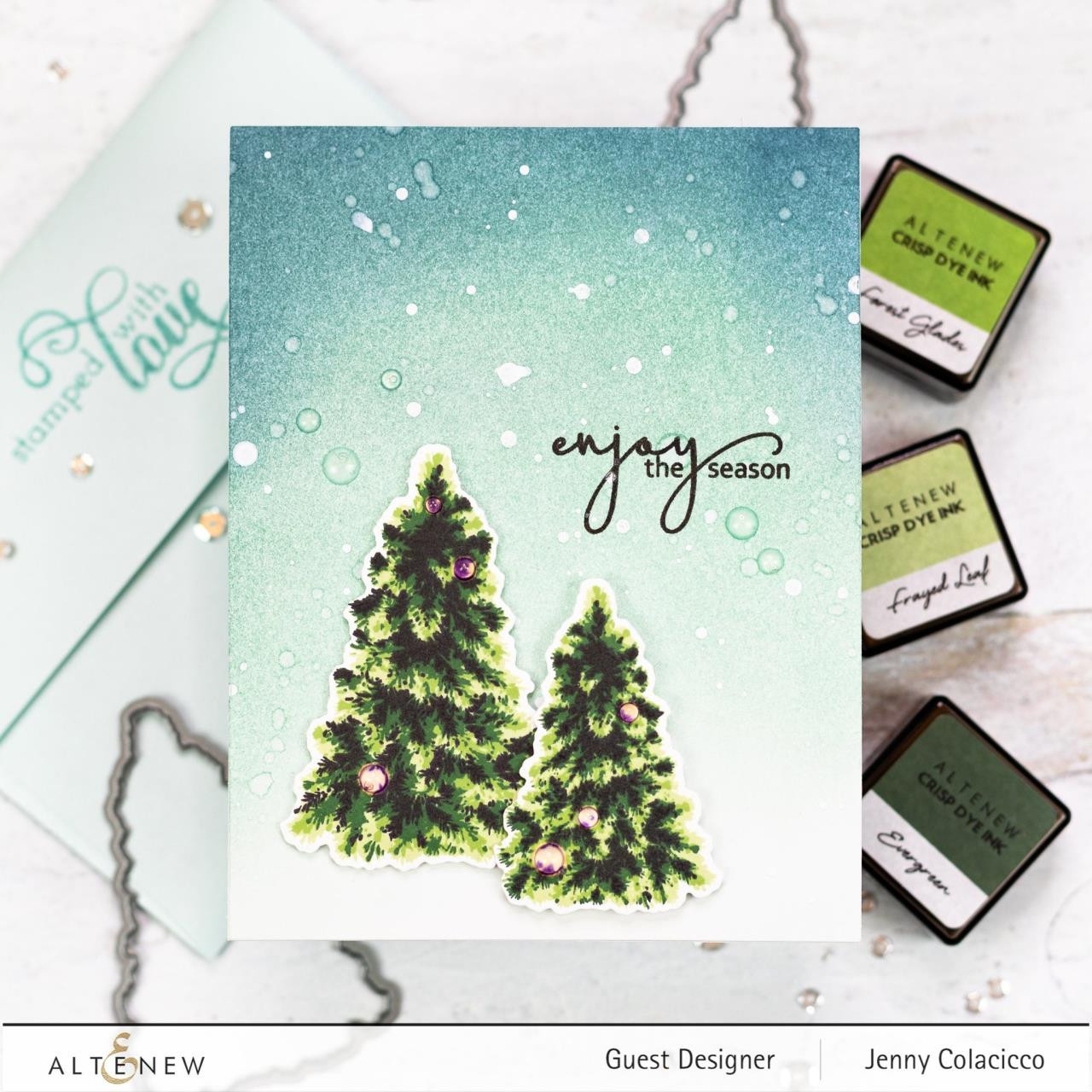 Plentiful Pine, Altenew Clear Stamps - 737787256374
