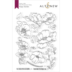 Poppy Garden, Altenew Clear Stamps - 737787256428