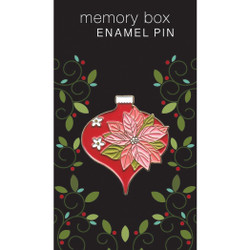 Poinsettia Ornament, Memory Box Enamel Pin -