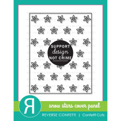 Snow Stars Cover Panel, Reverse Confetti Cuts -