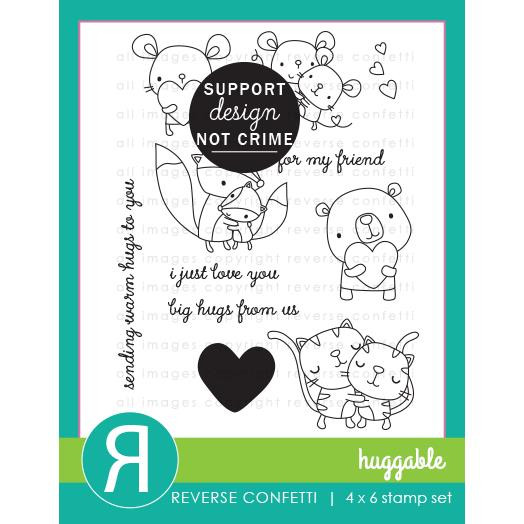 Huggable, Reverse Confetti Clear Stamps -
