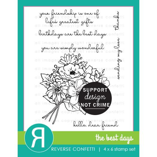 The Best Days, Reverse Confetti Clear Stamps -