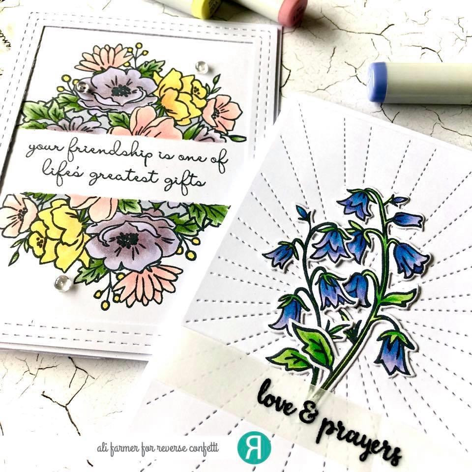 Beautiful Memories, Reverse Confetti Clear Stamps -