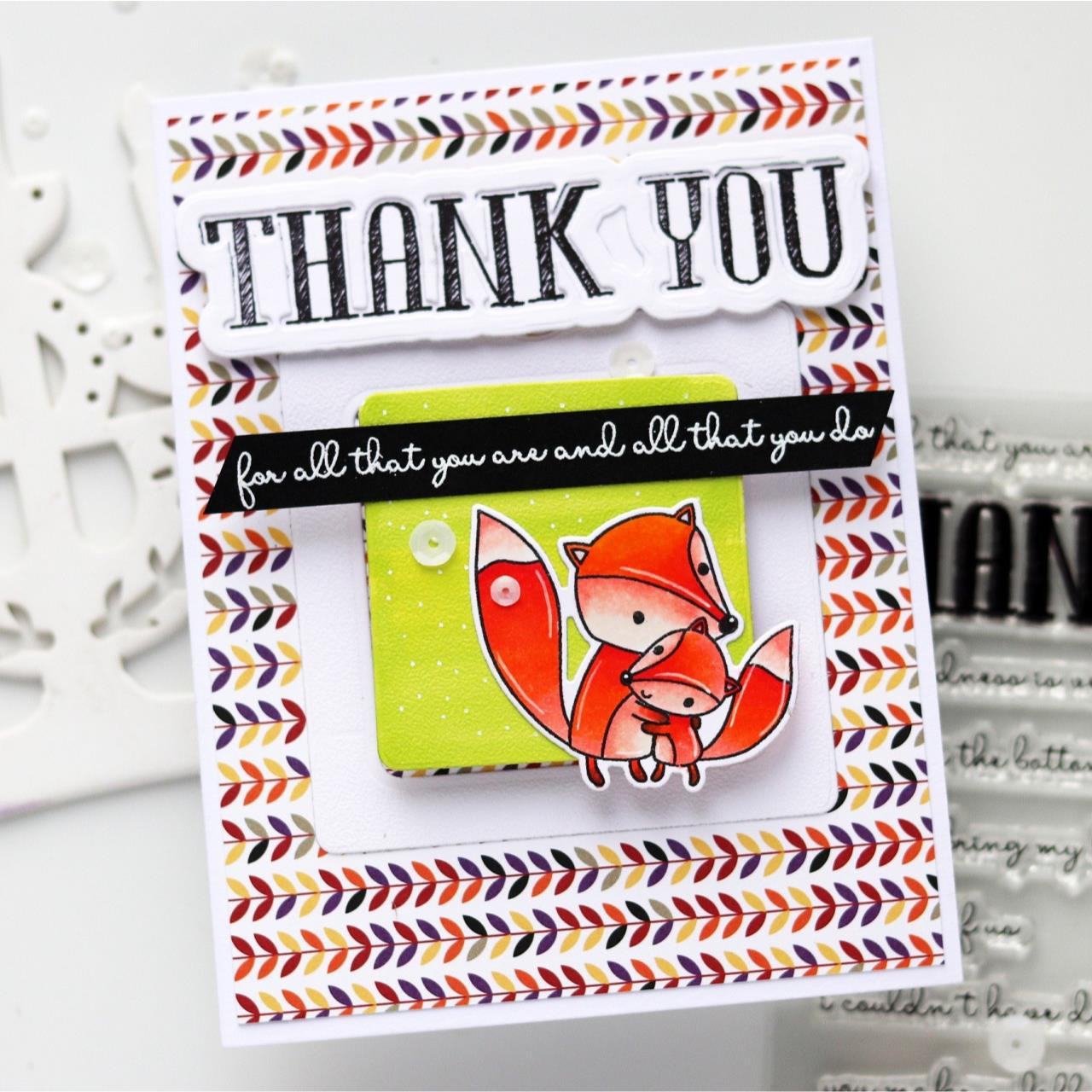 Thank You, Reverse Confetti Cuts -