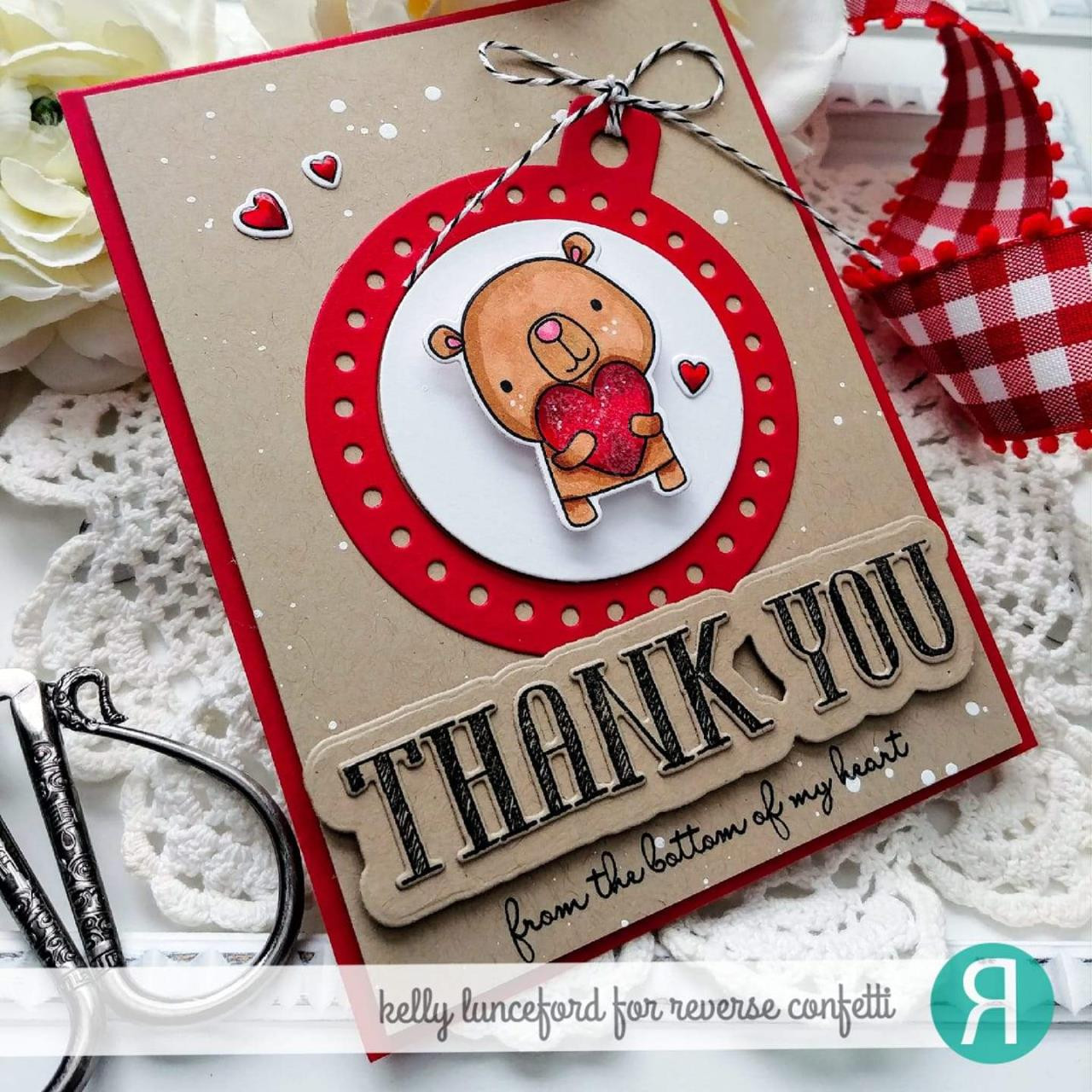 Thank You, Reverse Confetti Clear Stamps -