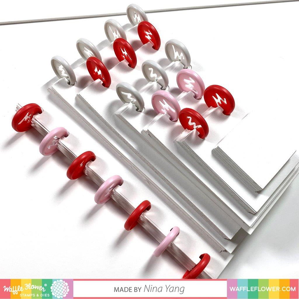 Binding Discs - Red, Waffle Flower Tools -