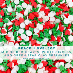 Peace, Love, Joy, Trinity Stamps Embellishments -