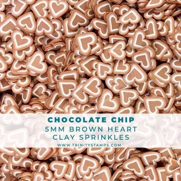 Chocolate Chip Hearts, Trinity Stamps Embellishments -