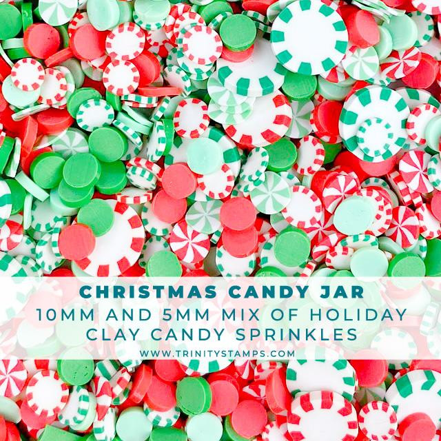 Christmas Candy Jar, Trinity Stamps Embellishments -