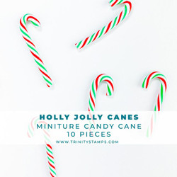 Holly Jolly Candy Canes, Trinity Stamps Embellishments -