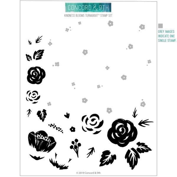 Kindness Blooms Turnabout, Concord & 9th Clear Stamps - 090222401068