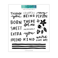 Thank You For Being, Concord & 9th Clear Stamps - 090222401129