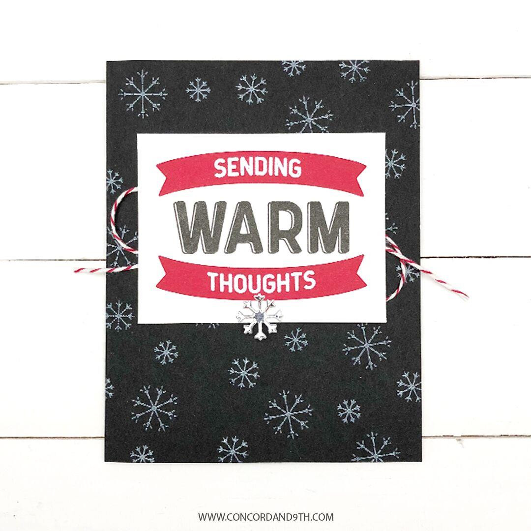 Warm Wishes Turnabout, Concord & 9th Clear Stamps - 090222401143