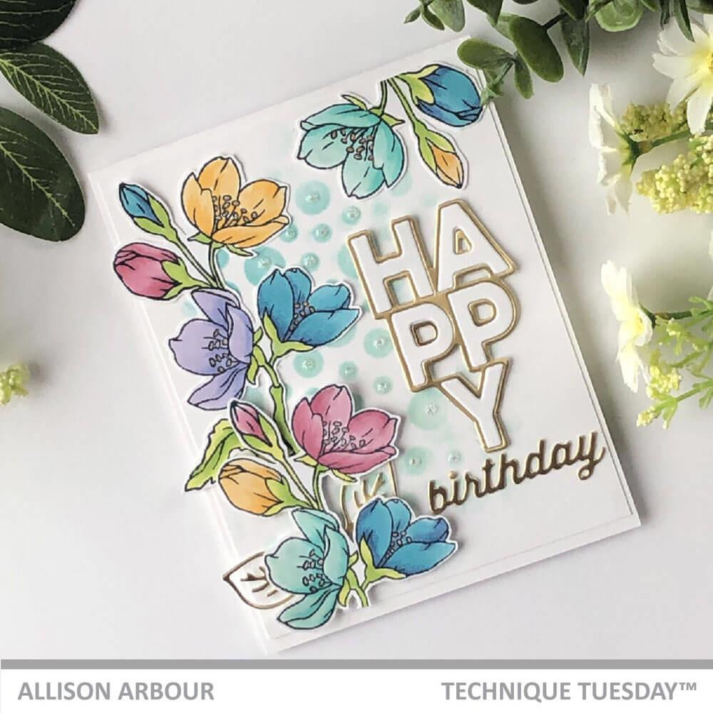 Large Birthday, Technique Tuesday Clear Stamps - 811784028186