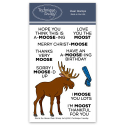 Morris the Moose, Technique Tuesday Clear Stamps - 811784028155