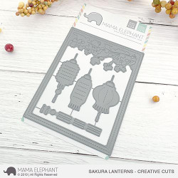 Sakura Lanterns, Mama Elephant Creative Cuts -