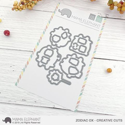 Zodiac Ox, Mama Elephant Creative Cuts -