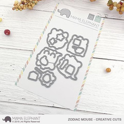Zodiac Mouse, Mama Elephant Creative Cuts -