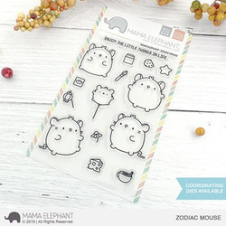 Zodiac Mouse, Mama Elephant Clear Stamps -