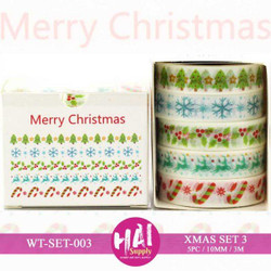 Christmas Set (003), HAI Washi Tape - 716686680602