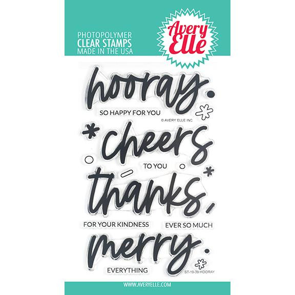 Hooray, Avery Elle Clear Stamps -