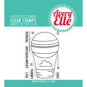 Peek-a-Boo Balloon, Avery Elle Clear Stamps - 811568028241