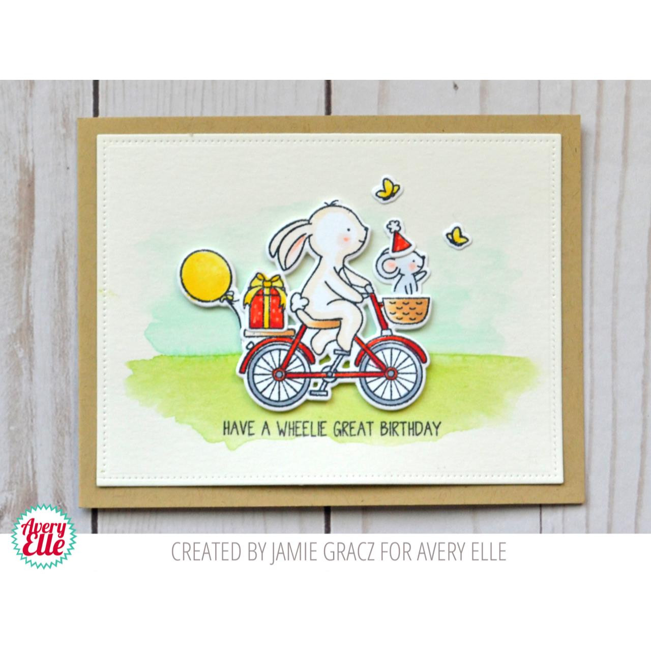 Wheelie, Avery Elle Clear Stamps - 081156808203