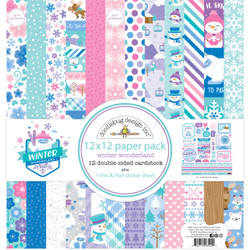 Winter Wonderland, Doodlebug 12 X 12 Paper Pack - 842715065444