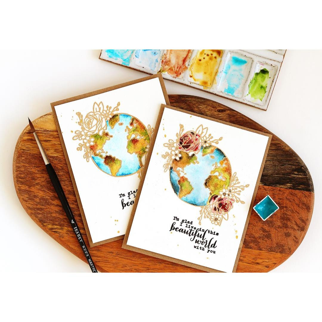 Beautiful World, Hero Arts Clear Stamps - 085700924726