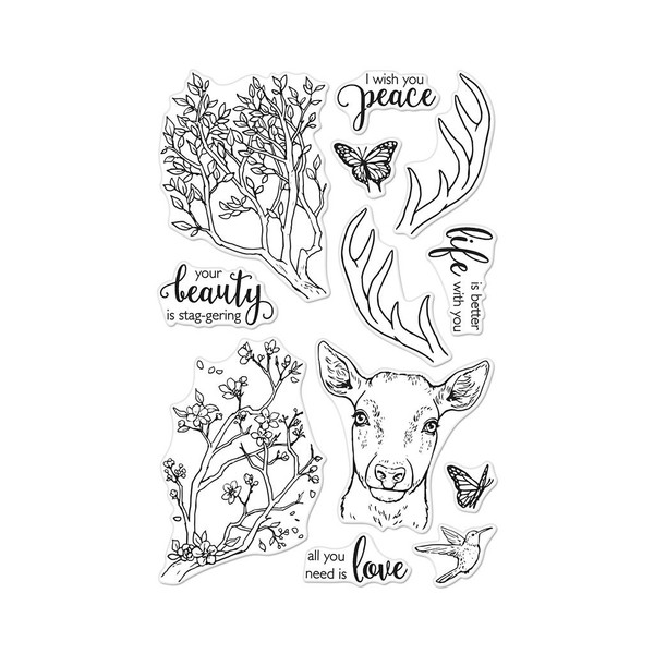 Staggering Branches, Hero Arts Clear Stamps - 085700924733
