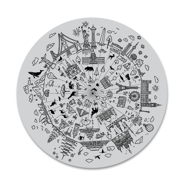 Wonders of the World Bold Prints, Hero Arts Cling Stamps - 085700924979