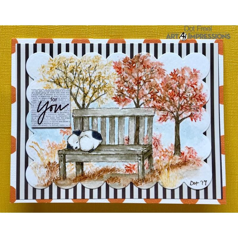 Watercolor Dogs, Art Impressions Cling Stamps - 750810793677