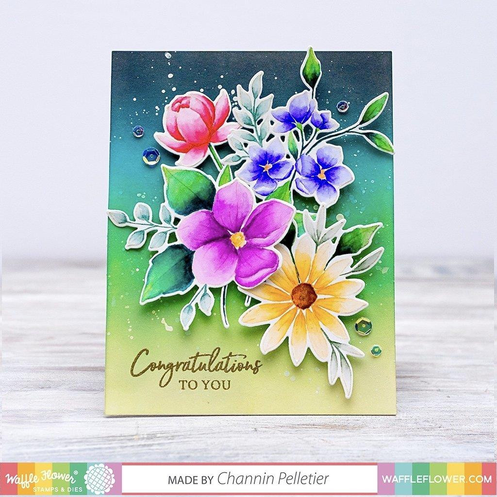 Bouquet Builder 6, Waffle Flower Clear Stamps - 644216569328