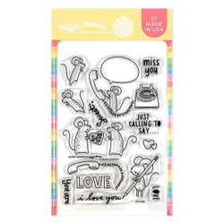 Secret Admirer, Waffle Flower Clear Stamps - 644216569427