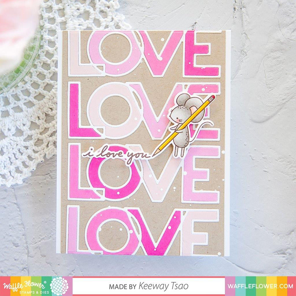 Outline Love, Waffle Flower Clear Stamps - 644216569724
