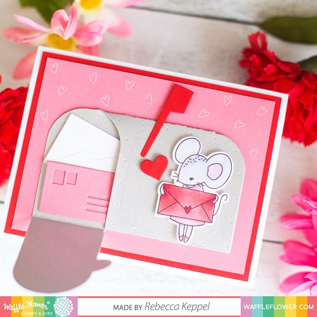 Sweet Mailbox, Waffle Flower Stamp & Die Combo - 644216571123