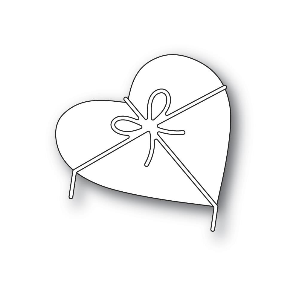 Heart and Bow, Poppystamps Dies - 873980923139