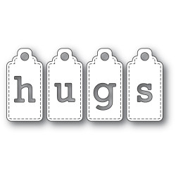 Hugs Tags, Poppystamps Dies - 873980923122