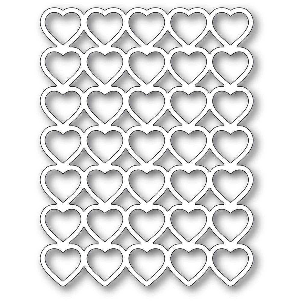 Banded Hearts, Poppystamps Dies - 873980922873