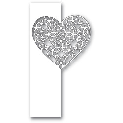 Floral Lace Heart Split Border, Poppystamps Dies - 873980922859