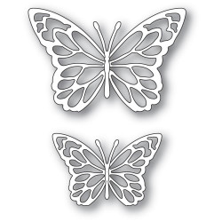 Gloriosa Butterfly Duo Outlines, Memory Box Dies - 873980943830