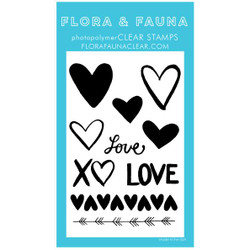 Solid Love Texture, Flora & Fauna Clear Stamps - 703791390274