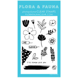 Build a Bouquet, Flora & Fauna Clear Stamps - 703791390281