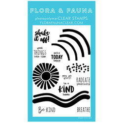 Radiate Positivity, Flora & Fauna Clear Stamps - 703791390298