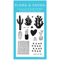 Stuck On You 2, Flora & Fauna Clear Stamps - 703791390304