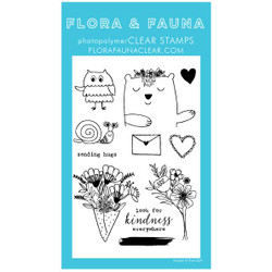 Animal Sending Love, Flora & Fauna Clear Stamps - 703791390311