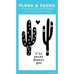Mini Never Desert Cactus, Flora & Fauna Clear Stamps - 703791390397